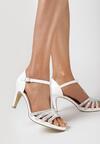 Białe Sandały Taphice