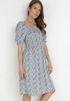 Niebieska Sukienka Celathan