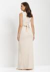 Jasnobeżowa Sukienka Parthastos