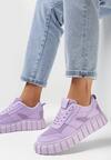 Liliowe Sneakersy Peisis