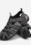 Szaro-Czarne Sandały Siera