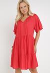 Czerwona Sukienka Amphas