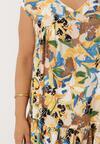 Beżowo-Żółta Sukienka Kimothusa