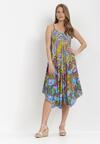 Fioletowo-Niebieska Sukienka Struana