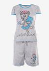 Szaro-Niebieski 2-Częściowy Komplet Piżamowy Wanyi