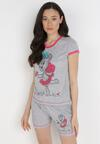 Szaro-Różowy 2-Częściowy Komplet Piżamowy Wanyi