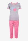 Szaro-Różowy 2-Częściowy Komplet Piżamowy Dorienella