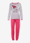 Szaro-Fuksjowy 2-Częściowy Komplet Piżamowy Meria