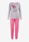Szaro-Różowy 2-Częściowy Komplet Piżamowy Meria