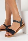 Granatowe Sandały Morepheu