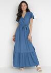 Niebieska Sukienka Gyimanum