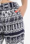 Granatowe Spodnie Szerokie Meliphaeia