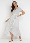 Biała Sukienka Echosia