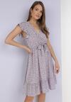 Liliowa Sukienka Dorinisse