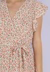 Biało-Pomarańczowa Sukienka Dorinisse