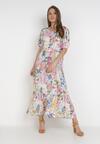 Kremowa Sukienka Laomemoni