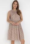 Brązowa Sukienka Adrilise