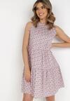 Różowa Sukienka Adrilise