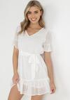 Biała Sukienka Acalopei
