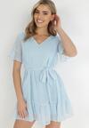 Niebieska Sukienka Acalopei
