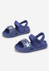 Granatowo-Niebieskie Sandały Alion