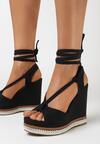 Czarne Sandały Raeggo
