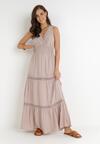 Beżowa Sukienka Rhenemisa