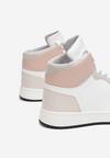 Beżowo-Różowe Sneakersy Prosedice