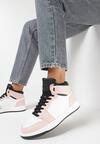 Biało-Różowe Sneakersy Prosedice
