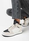 Beżowo-Czarne Sneakersy Prosedice