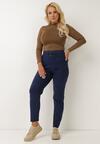Granatowe Spodnie Skinny Rodylyc