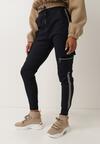 Granatowe Spodnie Welewen