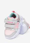 Różowo-Niebieskie Buty Sportowe  LED Myrine