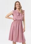 Różowo-Biała Sukienka Lagurinia