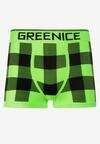 Czarno-Zielone Bokserki Zhane