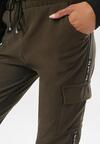 Ciemnozielone Spodnie Celanele