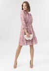 Ciemnoróżowa Sukienka Adreaney