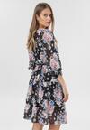 Czarno-Różowa Sukienka Perithe