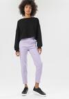 Jasnofioletowe Spodnie Sarrelle