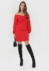 Czerwona Sukienka Omathana
