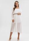 Biała Sukienka Jaenlenne