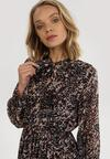 Czarno-Brązowa Sukienka Xylyss