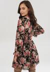 Czarno-Różowa Sukienka Pinewood
