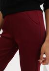 Bordowe Spodnie Ralozorwyn
