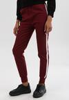 Bordowe Spodnie Varona