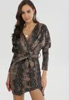 Czarna wężowa Sukienka Rapidbrow