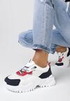 Biało-Czerwone Sneakersy Doreisa