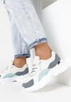 Biało-Niebieskie Sneakersy Doreisa
