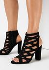 Czarne Sandały Ryrthine