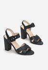 Czarne Sandały Viviney